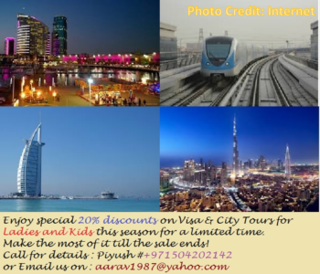 Visit Dubai whenever u feel like. - call the no above for quick visa.