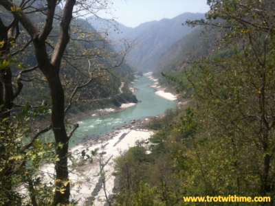 View of the Ganges from top